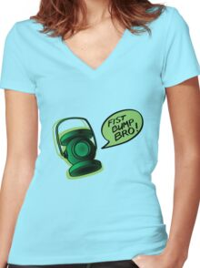 Lantern Bump Women's Fitted V-Neck T-Shirt
