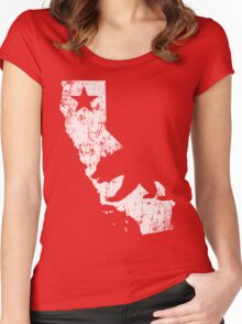 Vintage California State Outline Women's Fitted Scoop T-Shirt
