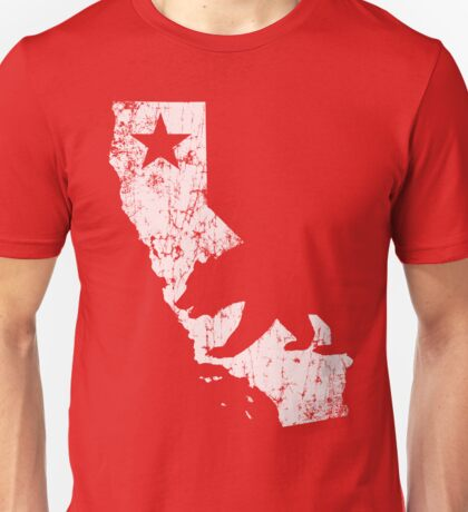 Vintage California State Outline Unisex T-Shirt