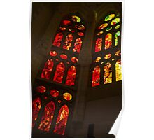 Glorious Reds and Yellows - Sagrada Familia Stained Glass Windows Poster