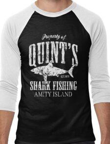 Quints Shark Fishing Amity Island Men's Baseball ¾ T-Shirt