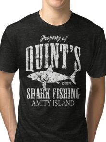 Quints Shark Fishing Tri-blend T-Shirt