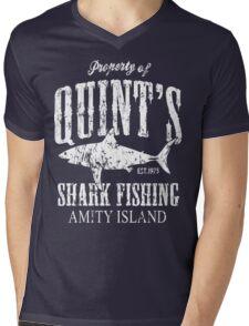 Quints Shark Fishing Amity Island Mens V-Neck T-Shirt