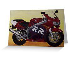 Fireblade Honda motorcycle art Greeting Card