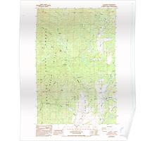 USGS Topo Map Washington State WA Littlerock 242025 1986 24000 Poster