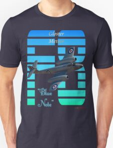 "Gloster Meteor F8 ""Blue Note"" T-shirt Design T-Shirt"