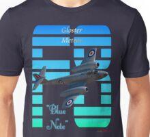 "Gloster Meteor F8 ""Blue Note"" T-shirt Design Unisex T-Shirt"