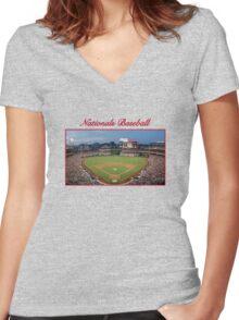Nationals Baseball Women's Fitted V-Neck T-Shirt