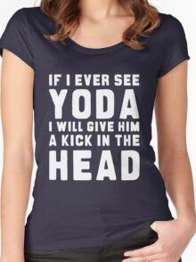 WTF IS YODA ??? Women's Fitted Scoop T-Shirt
