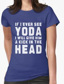 WTF IS YODA ??? Womens Fitted T-Shirt