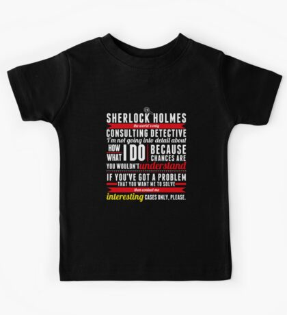 Interesting Cases Only, Please. Kids Tee