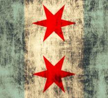 Vintage Grunge Chicago Flag Sticker
