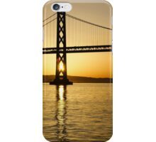 Framing the Sunrise at San Francisco's Bay Bridge in California iPhone Case/Skin