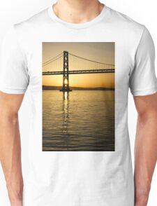 Framing the Sunrise at San Francisco's Bay Bridge in California Unisex T-Shirt