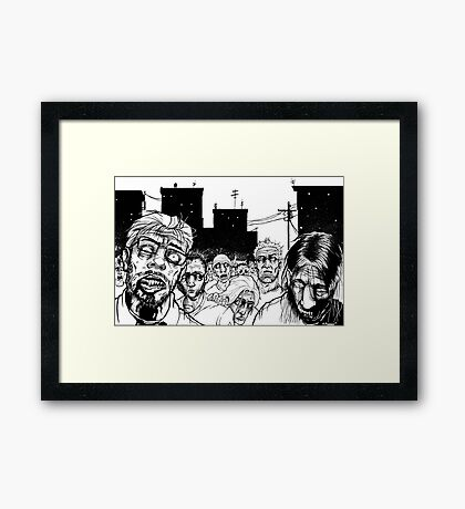 More Zombies Framed Print