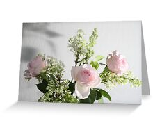 lilac and roses Greeting Card