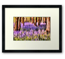 The abstract bluebell Framed Print