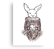 Bunny Shakespeare Canvas Print