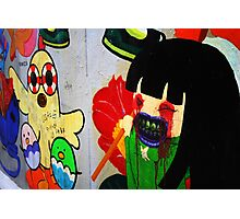 Attack of the Girl With the Lolly Pop Photographic Print