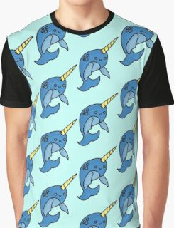 The Happy Narwhal Graphic T-Shirt
