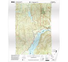 USGS Topo Map Washington State WA Cougar 240704 1998 24000 Poster