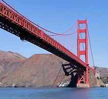 Span To North Tower To Marin by Barrie Woodward