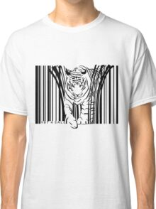 endangered TIGER BARCODE illustration Classic T-Shirt