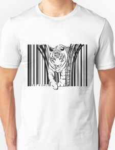 endangered TIGER BARCODE illustration T-Shirt