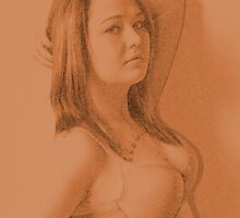 Girl with the tatooed chest by DDowning