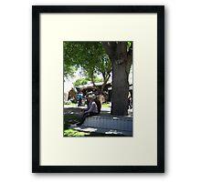 Shade Talking Framed Print