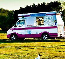 One legged ice cream bandit! by Richard Hepworth