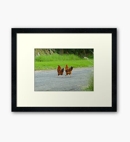 Tell Me Again Why We're Crossing This Road! Framed Print