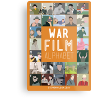 War Film Alphabet Metal Print