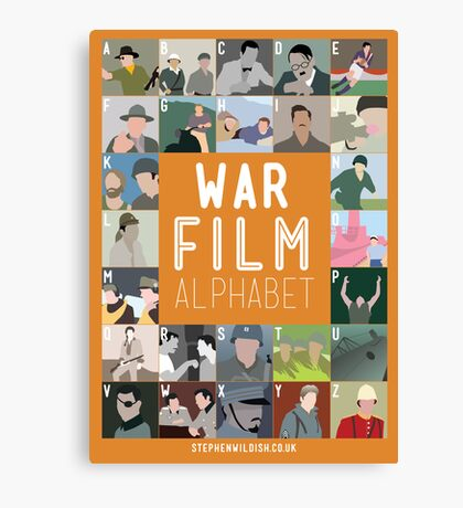 War Film Alphabet Canvas Print