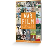 War Film Alphabet Greeting Card