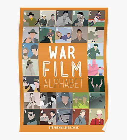 War Film Alphabet Poster