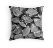 Stacked Wood Throw Pillow