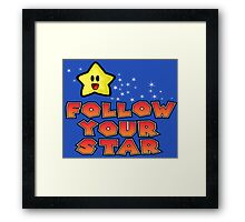 Follow Your Star Nintendo Style Framed Print