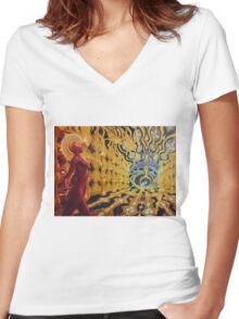 Vision of the fourth dimension Women's Fitted V-Neck T-Shirt