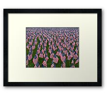 In Honor of our Fallen Men & Women. Framed Print