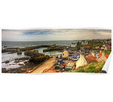 The Harbour at St Abbs Panorama Poster