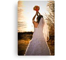 Glowing bride Canvas Print
