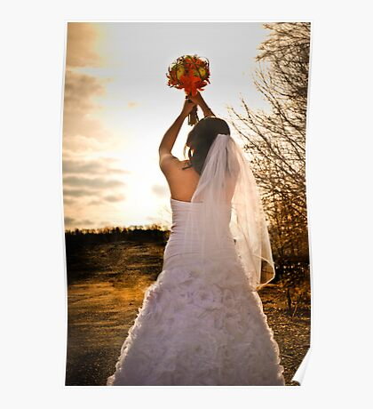 Glowing bride Poster