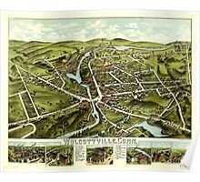 Panoramic Maps Wolcottville Conn Poster