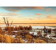 Sunset at Emiquon Photographic Print
