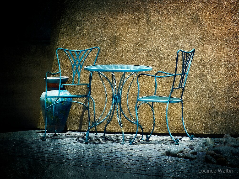 Table & Chairs in Blue by Lucinda Walter
