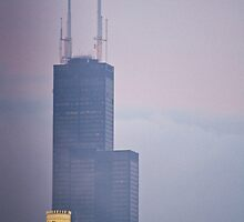 Sears Tower in Fog by cyasick
