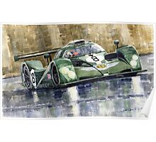 Bentley Prototype EXP Speed 8 Le Mans racer car 2001 Poster