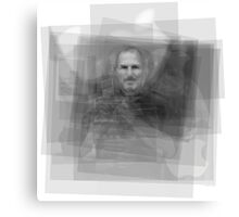 Steve Jobs Overlay Canvas Print