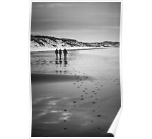 Dunnet Beach, Boxing Day 2010, Caithness, Scottish Highlands Poster